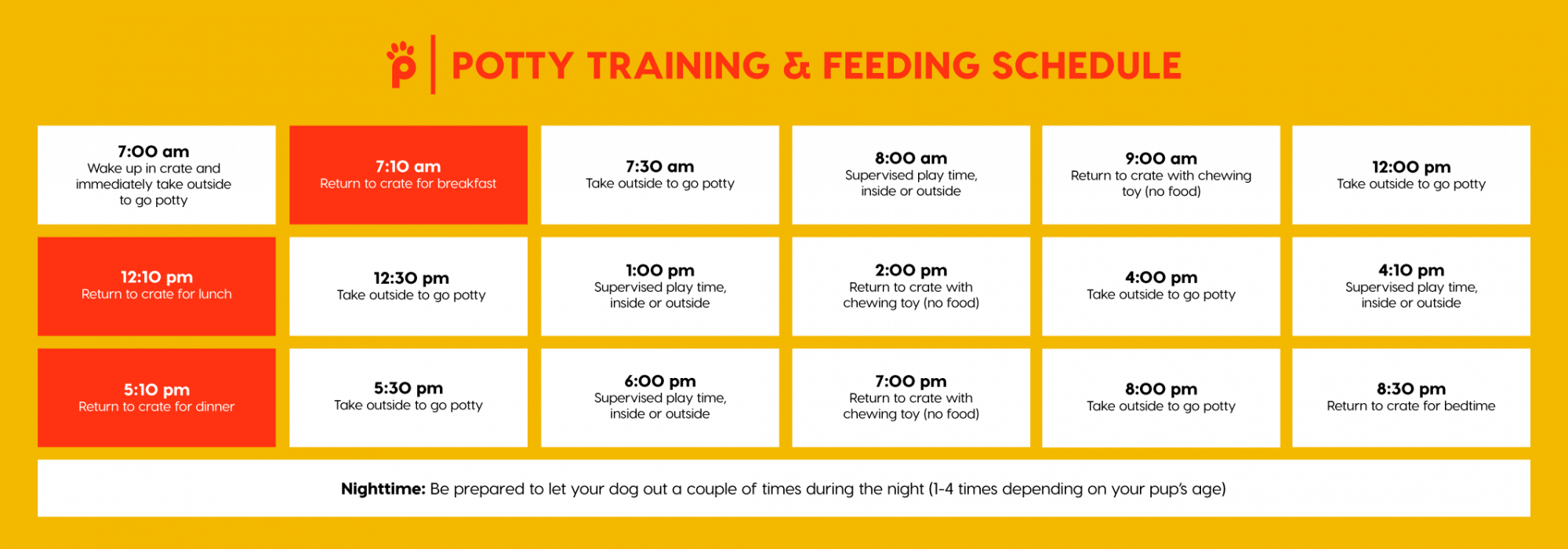 potty training schedule for puppy | Pupford