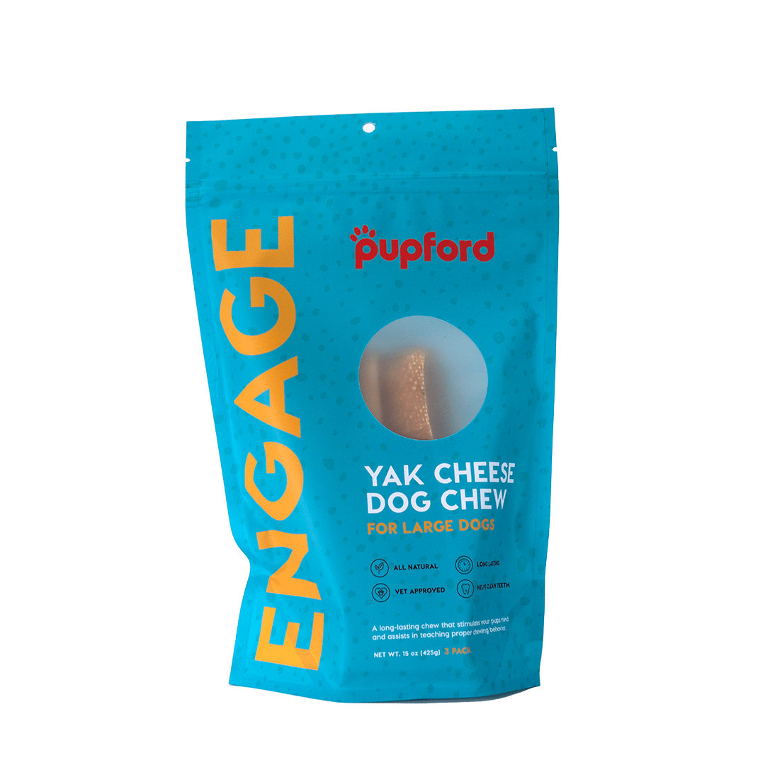 Yak Cheese Dog Chew for Large Dogs 3 Pack Front | Pupford