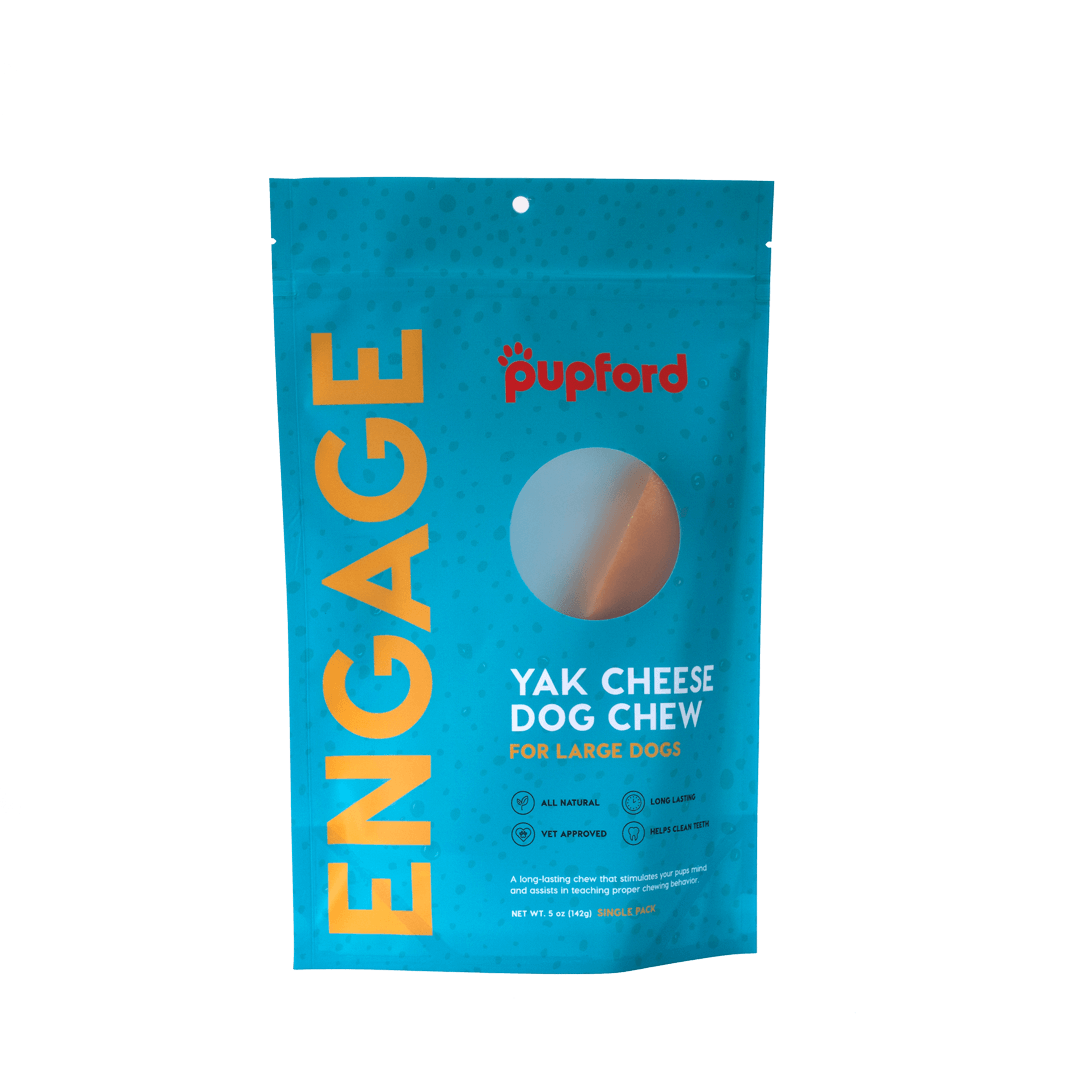 Yak Cheese Dog Chew for Large Dogs Single Pack Front | Pupford