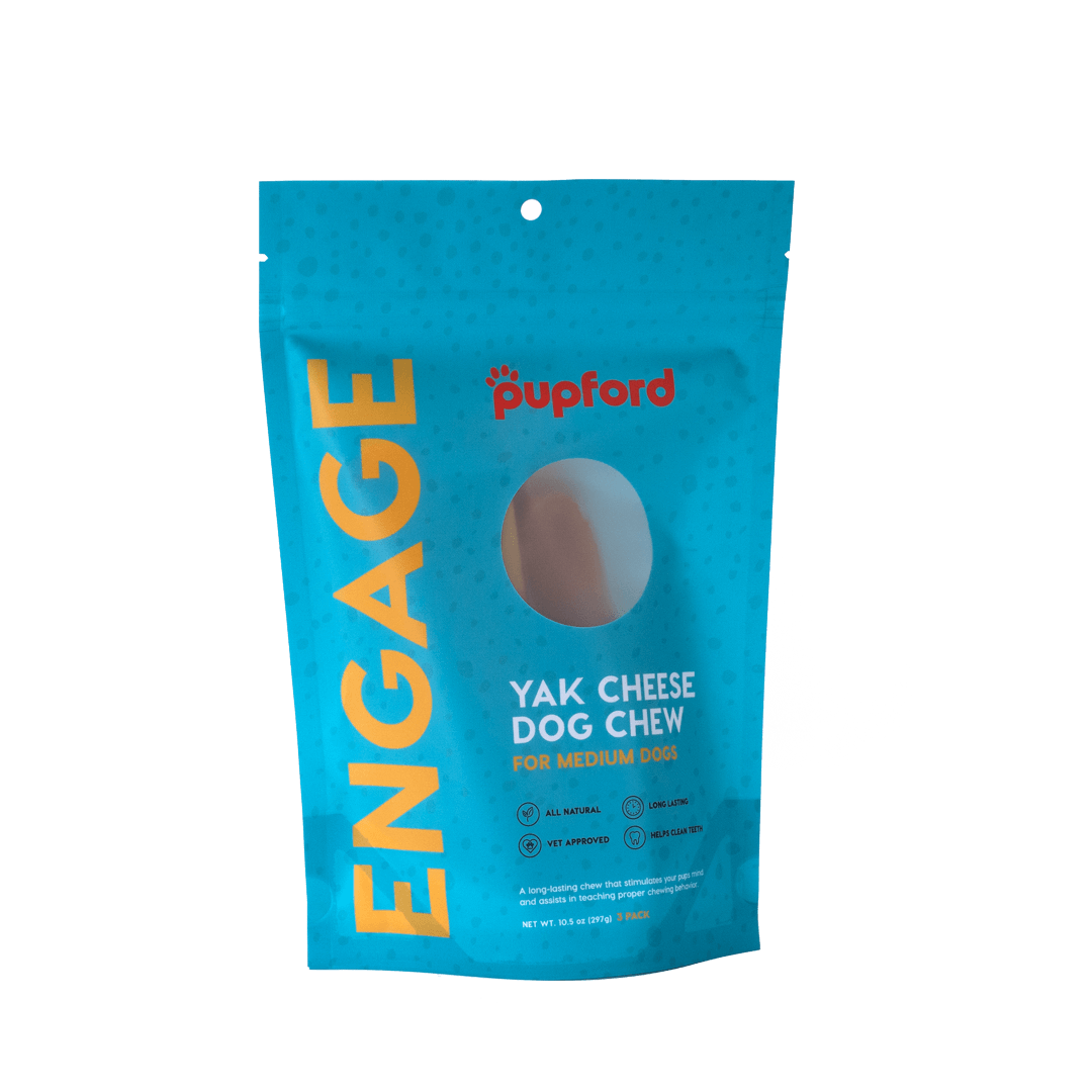 Yak Cheese Dog Chews for Medium Dogs 3 Pack Front | Pupford