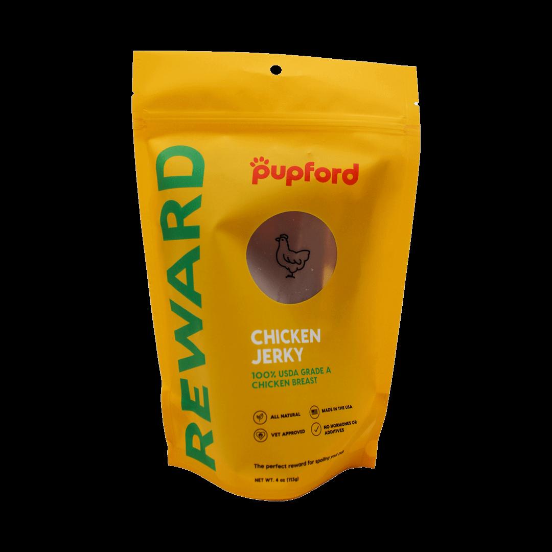 4oz-Chicken-Jerky-Front-of-Bag | Pupford