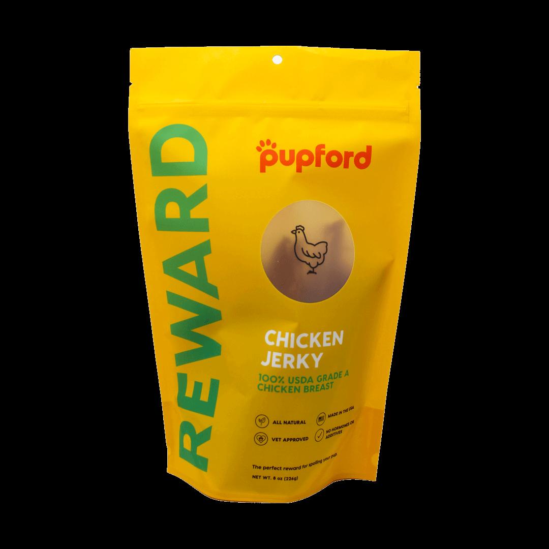 chicken-jerky-8oz-bag-front | Pupford