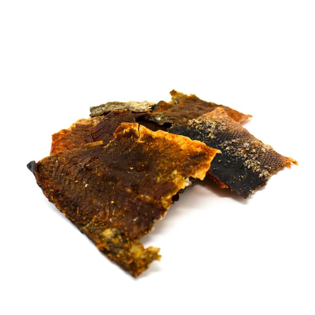 pile-of-salmon-jerky | Pupford