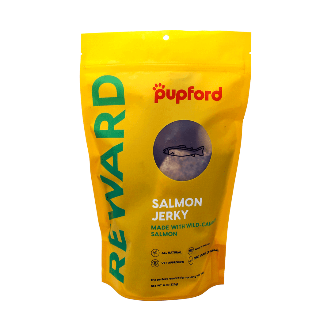 salmon-jerky-8-oz-front-of-bag | Pupford