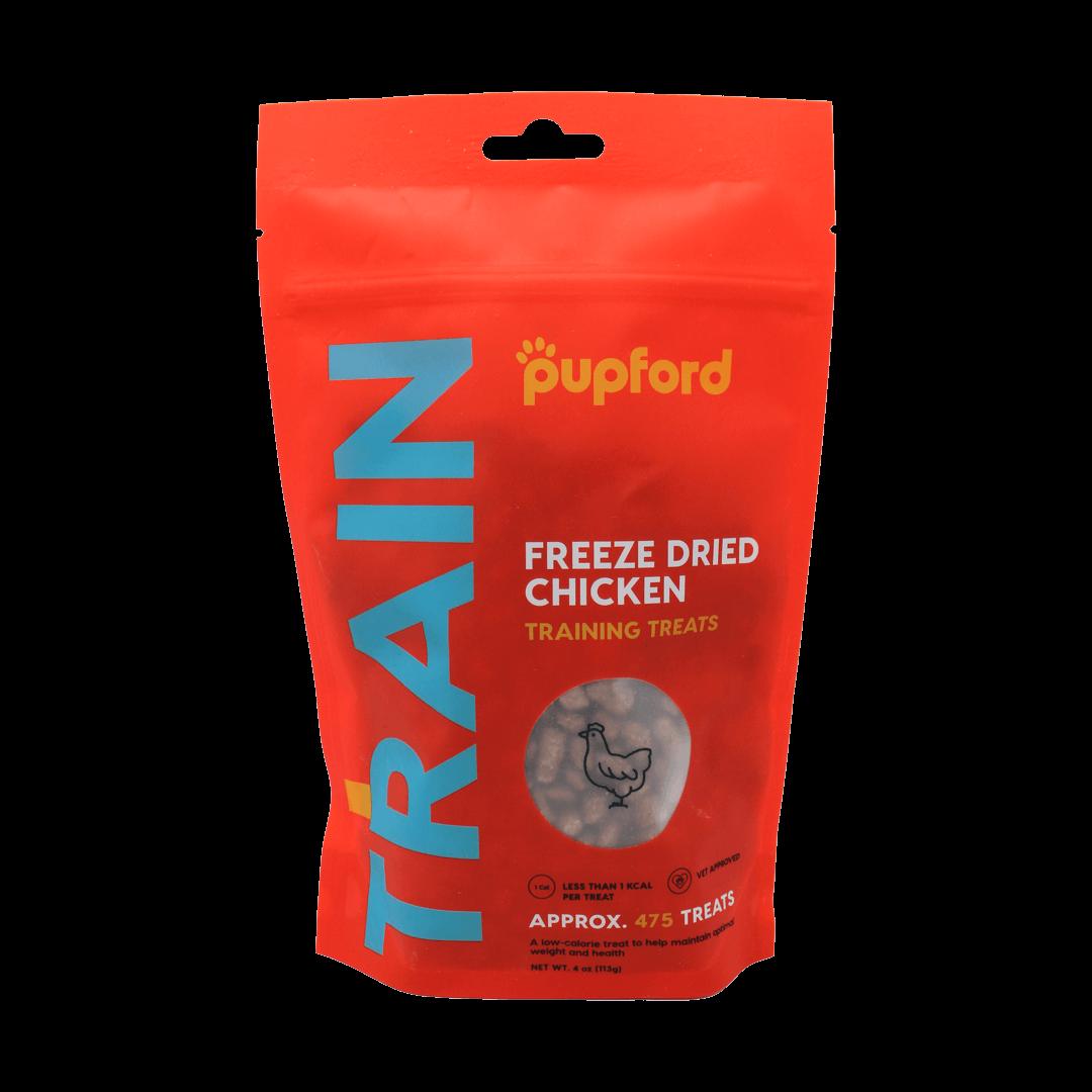 front-of-new-chicken-training-treats | Pupford