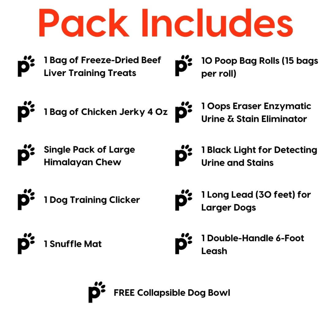 large dog new year new pup pack inclusions | Pupford