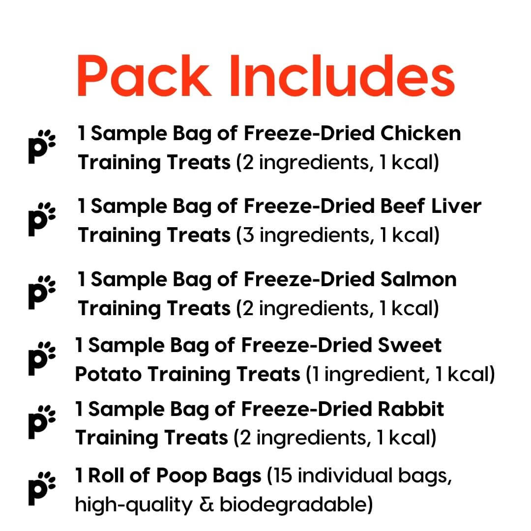 training treat sample pack inclusions | Pupford