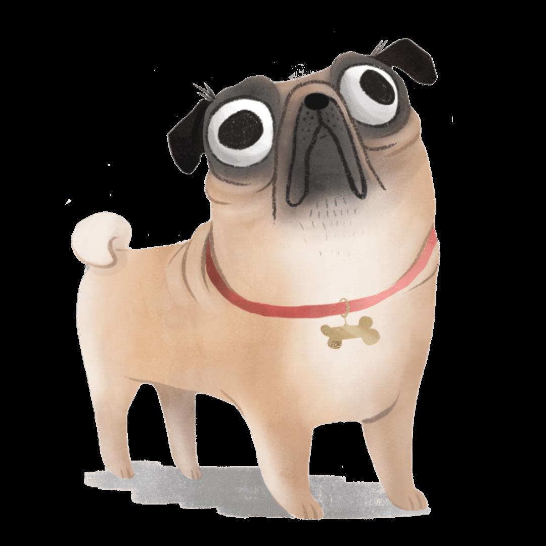 pug sticker 1080x1080 | Pupford