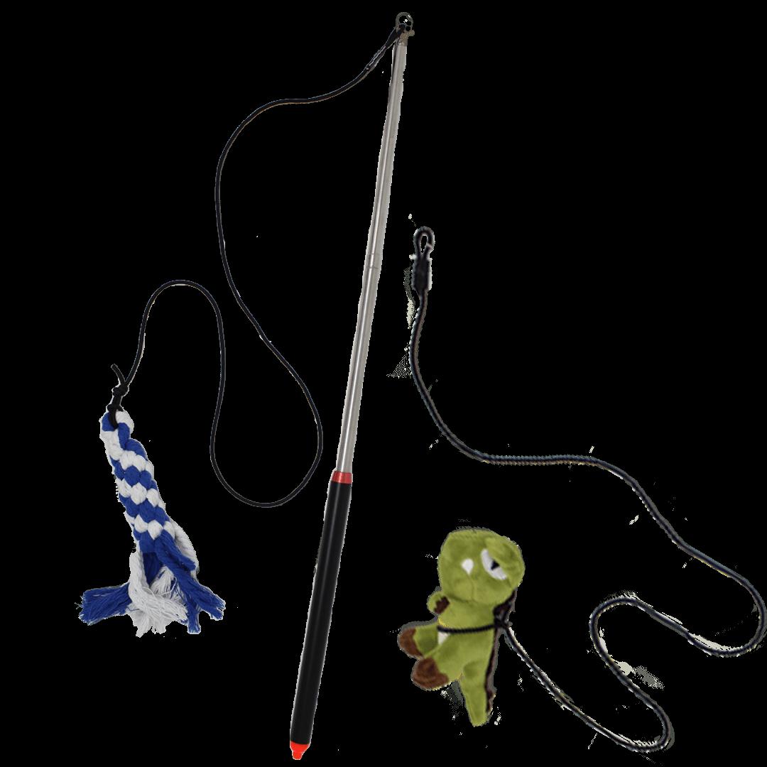 Flirt-Pole-with-2-Toys | Pupford