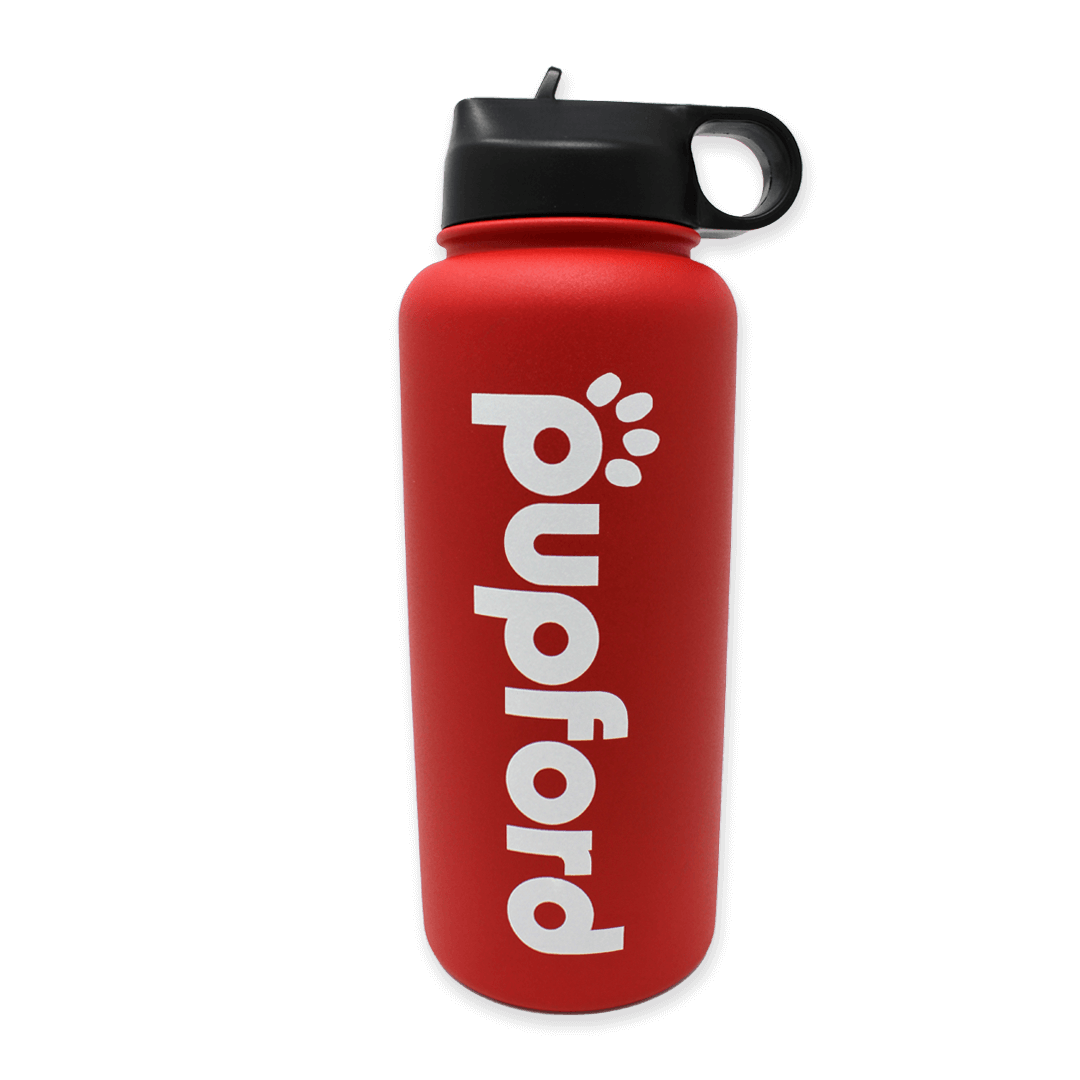 Red-Insulated-Water-Bottle-Main-Image | Pupford