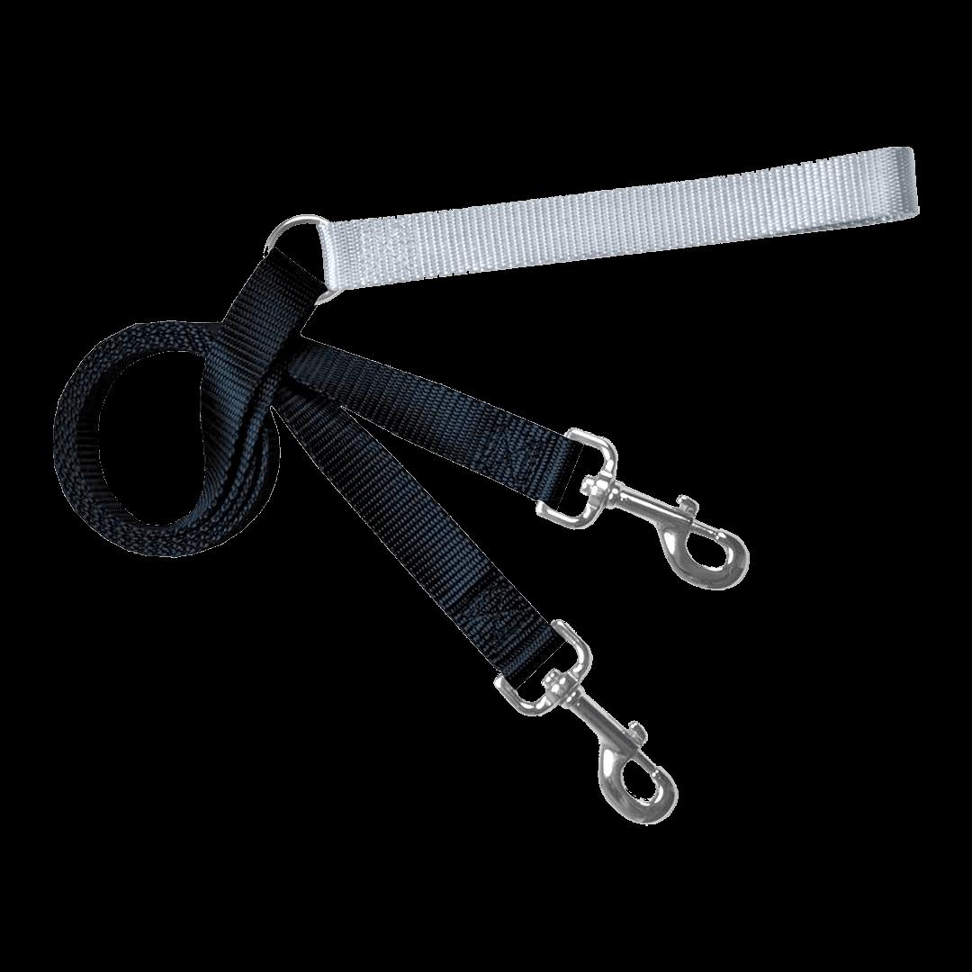 Training-Leash-Black-and-Silver | Pupford