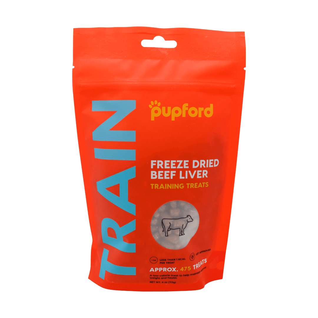 beef liver training treats front of bag   Pupford