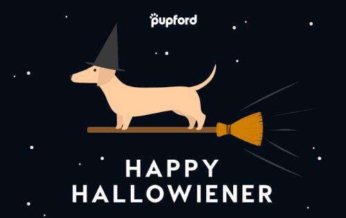 happy halloweiner gift card | Pupford