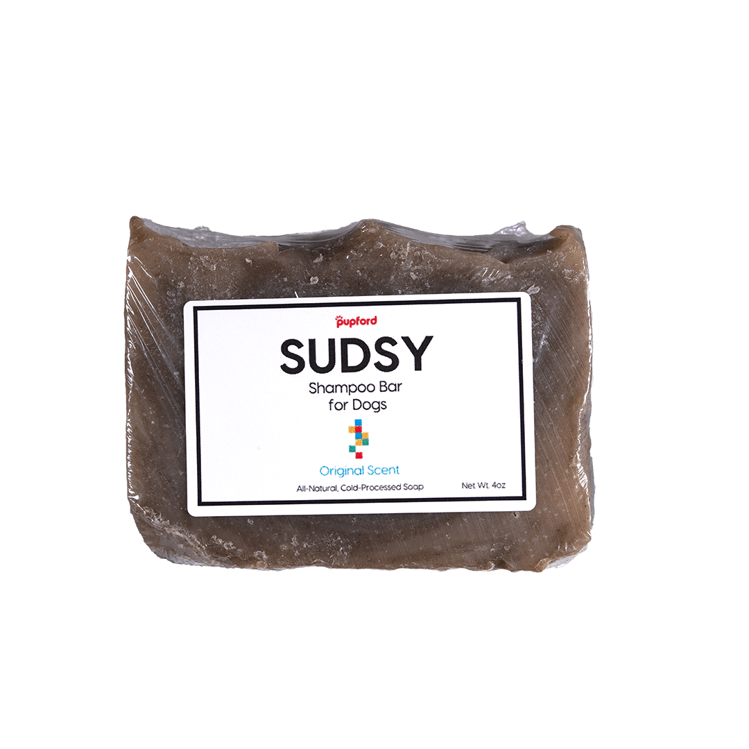 Sudsy Original Scent Shampoo Bar for Dogs Front   Pupford
