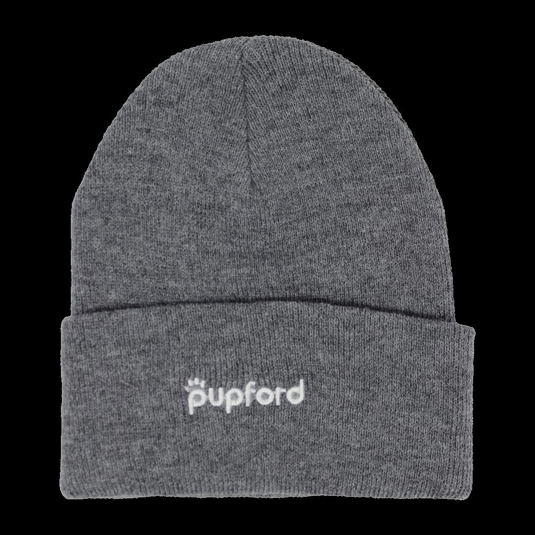 Gray-Pupford-Beanie-Front | Pupford