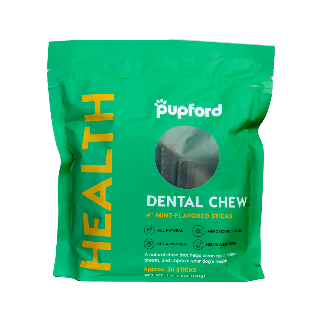 Dental-Chew-30-Count-Front-of-Bag | Pupford