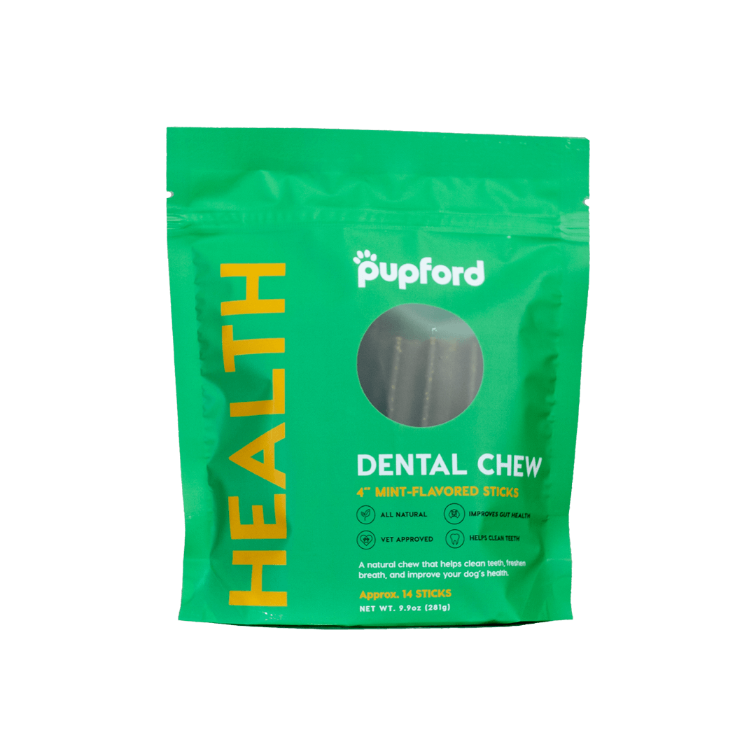Dental-Chew-14-Count-Front-of-Bag-Web | Pupford