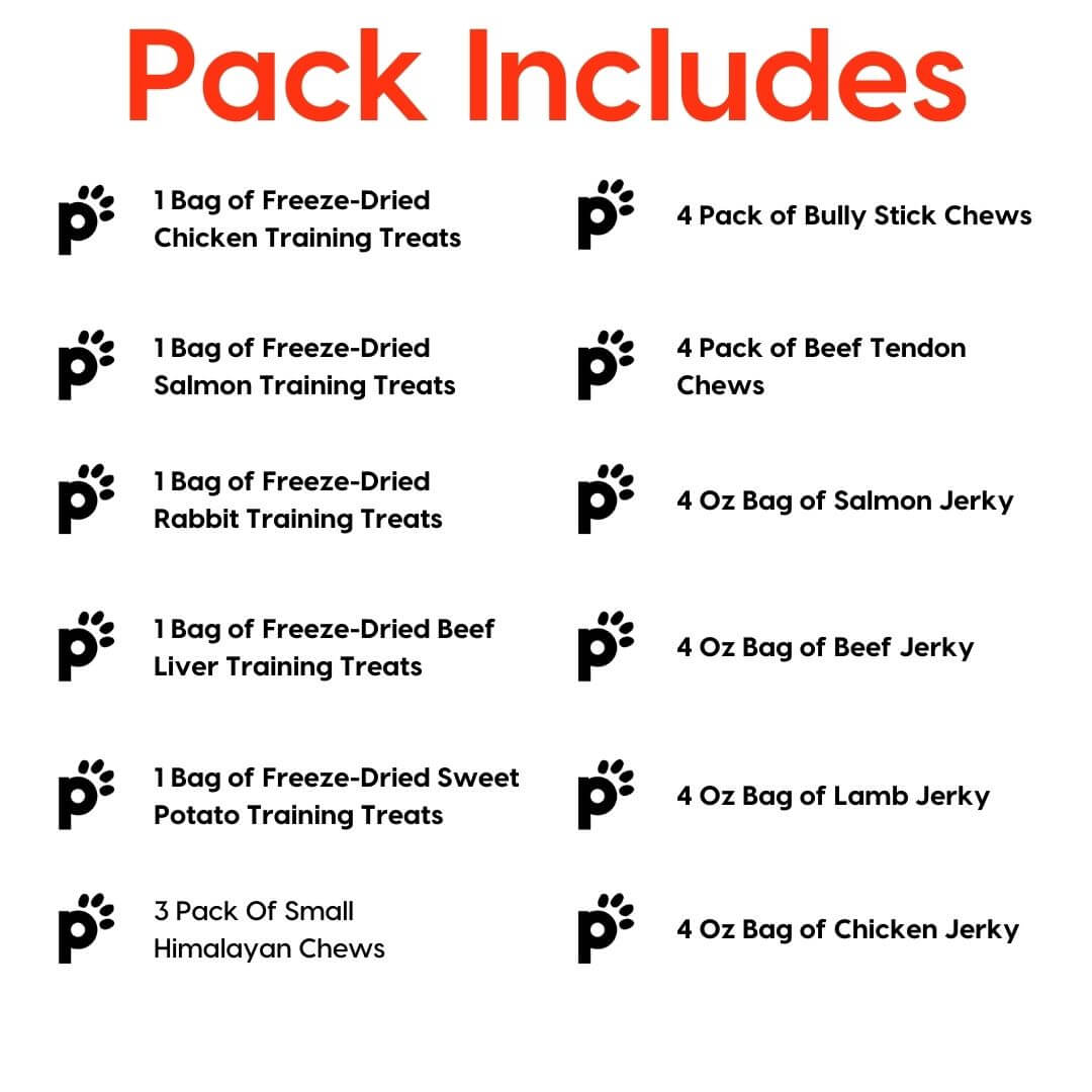 puppy and small dog mega pack inclusions | Pupford