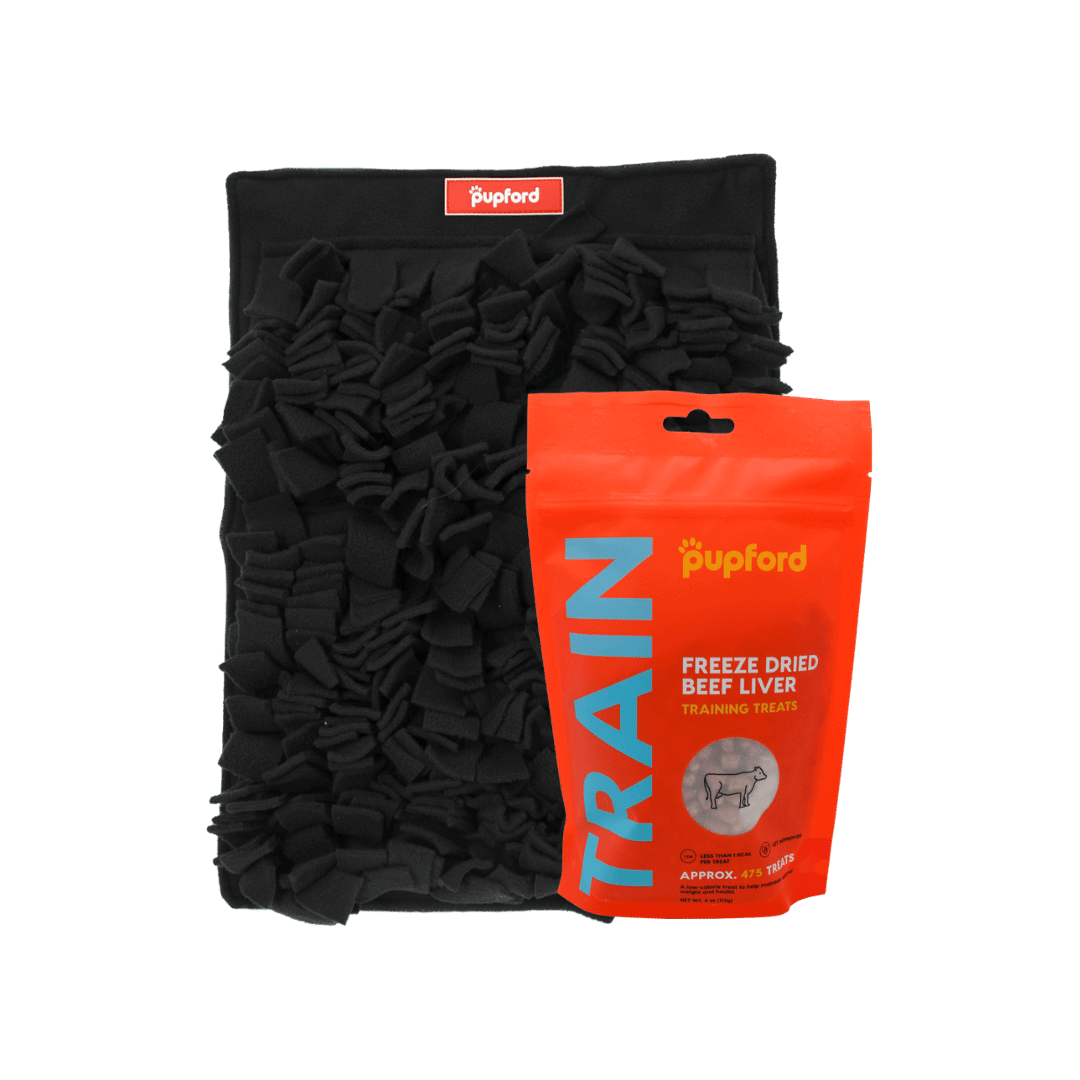 snuffle mat with beef liver training treats | Pupford