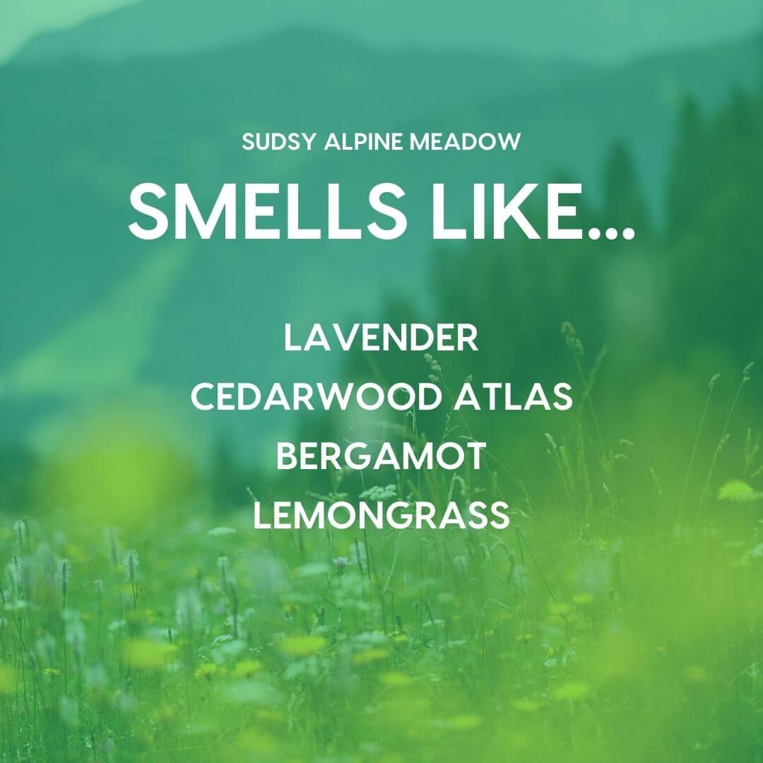 sudsy alpine meadow scent profile | Pupford